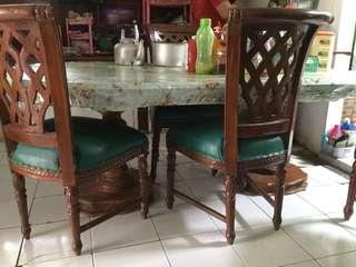 Kursi dan Meja Makan Kayu Jati untuk 6 orang