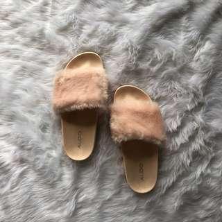 ALDO fur slides