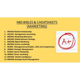 NBS BIBLES & CHEATSHEETS (MARKETING)