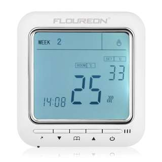1377. FLOUREON Heating Thermostat LCD Digital Display Backlight Daily 6 Stages Weekly 5+2/6+1/7 Programmable Electric Floor Heating Thermostat Underfloor Temperature Controller(Green)