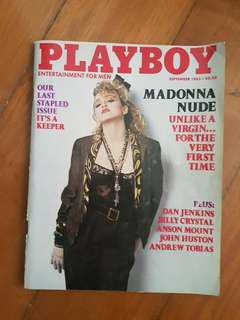 Playboy last stapled issue Madonna September 1985