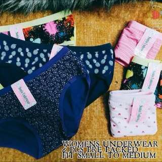 WOMENS UNDIES (6pcs)