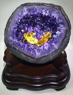 頂級ESP烏拉圭天然紫水晶洞