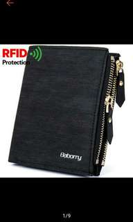 Men's Mini Wallet and Coin Purse with RFID