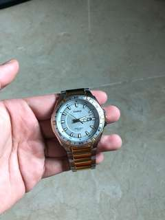 Casio Gold and Stainless Steel Watch 50m Water resistant