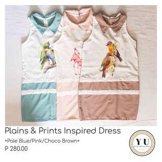 Plains & Prints Inspired Dress
