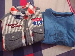 Oshkosh tshirt and garfield polo