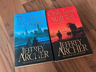 Jeffrey Archer books, The Sins of the Father, Only time Will tell