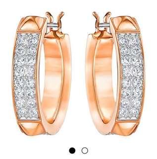 Swarovski rose gold earrings