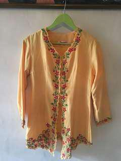 Yellow with bordir kebaya