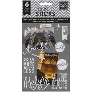 Me & My Big Ideas - Pocket Pages Clear Stickers - Faith