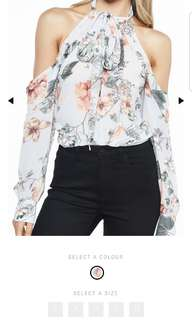 Bardot floral size 6 top