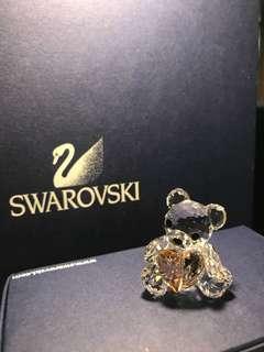 Swarovski crystal 施華洛世奇 水晶 心心熊仔 bear with heart