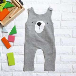 🚚 Instock - grey bear jumpsuit, spring summer 2018 collection