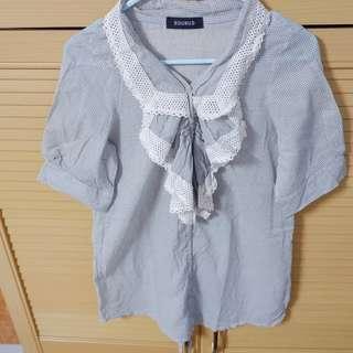 Ruffle grey blouse