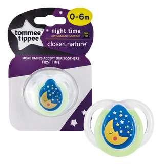 Tommee Tippee Closer to Nature Night Time Soother 0-6m