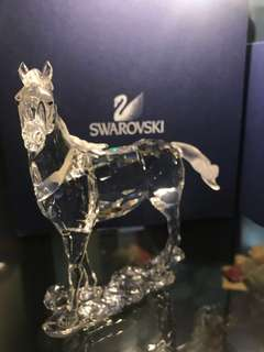 Swarovski 水晶 擺設 駿馬 馬到功成 生動 絕版 施華洛世奇