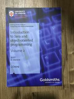 University of London (UOL) Textbook - Introduction to Java and Object-Oriented Programming Vol. 2