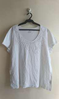 Plus Size White Stag Shirt
