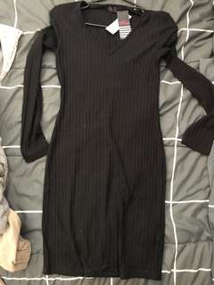 Tight Black long sleeve dress NEW