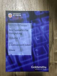 University of London (UOL) - Mathematics for Computing Vol. 2