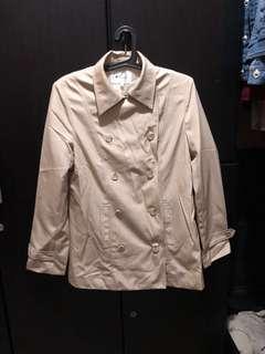 Beige waterproof coat