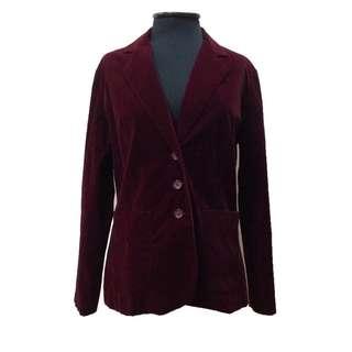 New:Maroon velvet blazer