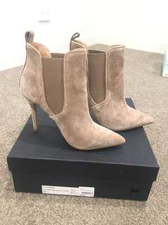 Tony Bianco Dejay suede boots booties size 7.5