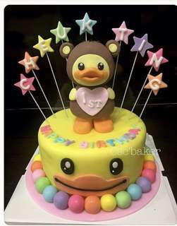 立體蛋糕 3Dcake 百日宴蛋糕 生日蛋糕 bduck蛋糕 bduckcake