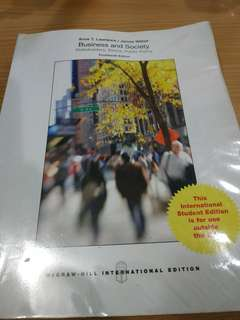 Business and society 14th edition