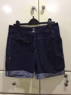 Blue denim shorts 💙
