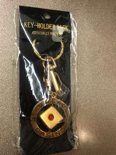 澳門轉動骰子金色鎖匙扣