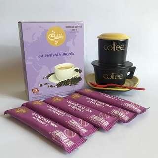 🚚 UTZ國際認證豆3合1即溶咖啡沖泡包(咖啡+砂糖+脫脂奶粉)翰萱咖啡Cà phê Hàn Huyên