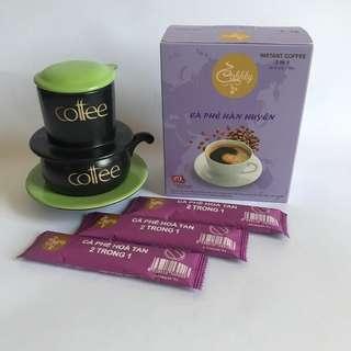 🚚 UTZ國際認證豆 2合1即溶咖啡沖泡包(咖啡+砂糖)翰萱咖啡Cà phê Hàn Huyên