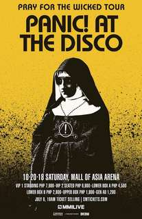 Panic! At the Disco #PrayForTheWickedTourMNL UPPER BOX A Tickets