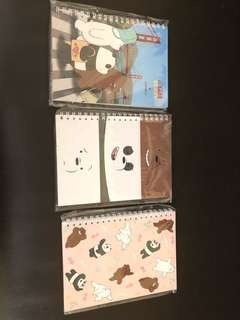 🚚 We Bare Bear A5 Notebook