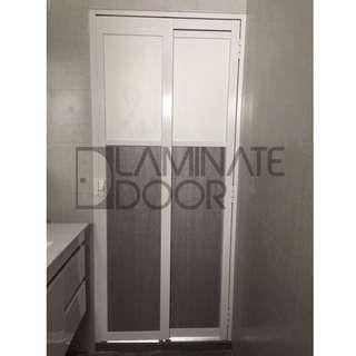 Slide & Swing Toilet Door for HDB / BTO at $350 (Get 2 door at $680)