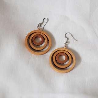 Wood Dangling earrings