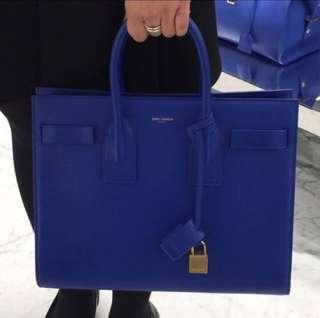 YSL sac de jour bag  彩藍色 長帶 手挽 側咩袋 有單塵袋 sogo 買 原價199xx 可小議