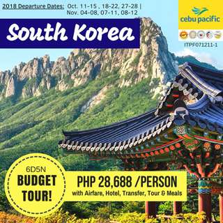 Budget Tour in South Korea 6D5N