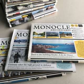 Monocle Mediterraneo and Monocle Alpino issues 1-10