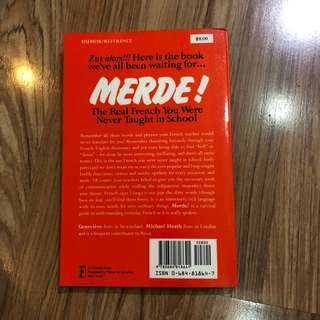 Merde! French bad words book