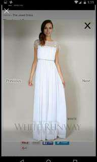 Wedding dress bridesmaid debutante formal evening gown