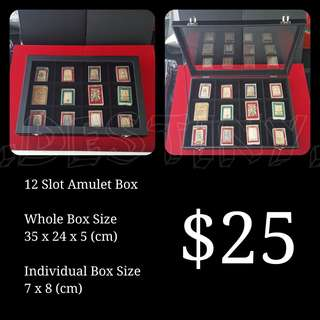 BLACK 12 Slot Amulet Display Box