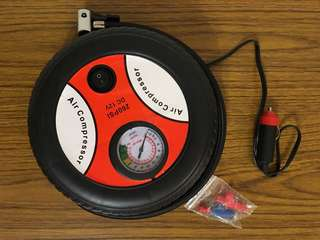 Mini Tire Inflator DC 12V Air Compressor 車軚迷你充氣