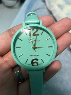 Geneva Platinum Teal Watch