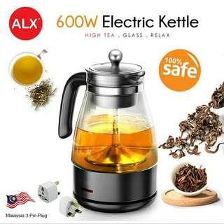 FREE POS Ready Stock Tea Coffee Electric Percolator Glass Pot Maker 1L Auto Reheat Electric Kettle