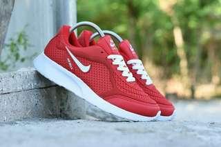 Sepatu Sport Air max Running man Merah Putih