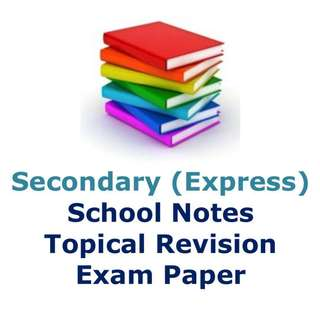 Secondary School / Sec 1 / Sec 2 / Sec 3 / Sec 4  Exam Paper / Prelim Paper / Maths / Physics / Chemistry / Biology / HCL / Literature / Chinese / History / English / Social Studies / notes / exam paper / topical / model essay / compo / oral