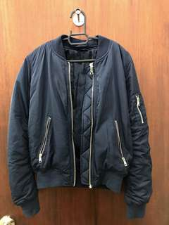 Topshop bomber jacket (navy blue)